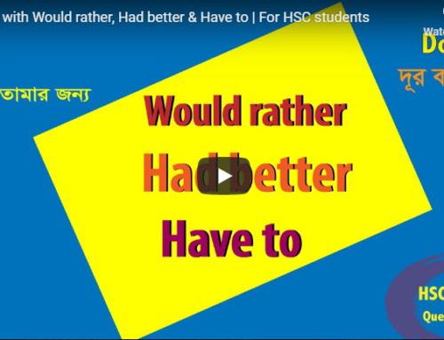 Problem with Would rather, Had better & Have to | For HSC students